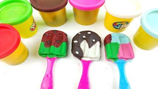 How to make play doh lollipop | Learn colors with play doh lollipop