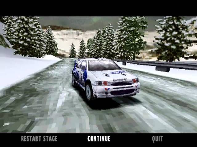 Colin McRae Rally (PS1) - Monte Carlo, Stage 1 Charols