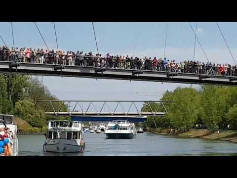 Kultur Kanal Schiffsparade am Kaisergarten Oberhausen alle singen mit 30.04.2017