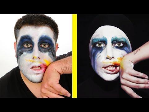 Guys Try Iconic Lady Gaga Music Video Looks