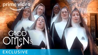 Good Omens Show Singing Nuns | Brand New Baby Smell | Prime Video