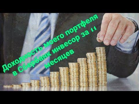 Доходность моего портфеля в Сбербанк инвестор за 11 месяцев.