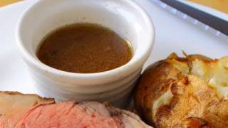 Beef Au Jus Recipe - Au Jus For Prime Rib Of Beef - How To Make Au Ju Sauce