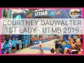 Courtney Dauwalter's 1st lady UTMB 2019 finish & interview still cracking jokes after 24hrs run!