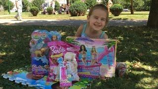 Барби с собачкой кукла и много игрушек Barbie развлечение для Детей Новые серии