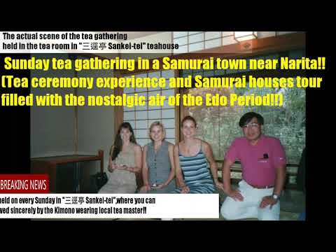 Japan Guide | Tea ceremony experience & Samurai houses tour!! Sakura city near Narita