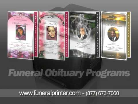 Funeral Service Obituary Program Samples with Instant Download - YouTube - free obituary program template
