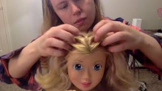 1 Hour ASMR- Barbie scalp check +massage  lots of tools+whispering