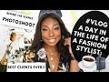 A Day In The Life Of A Fashion Stylist | Back Stage At A Photoshoot For A Commercial Job! #VLOG