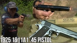 1911A1 .45 Pistol from 1925 in Slow-Mo!
