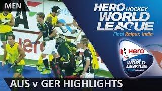Australia v Germany Match Highlights #HWL2015 #Raipur