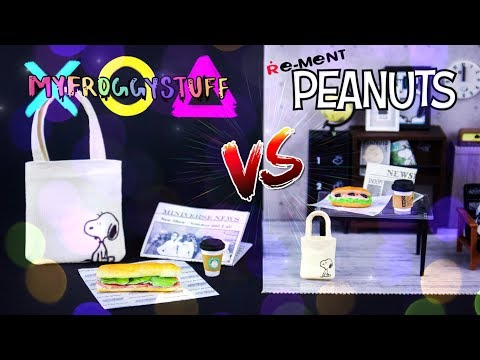 VERSUS: Re-Ment Peanuts VS DIY Miniature Accessories | Tote, Coffee,  Newspaper & more