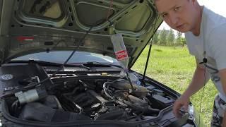 Приспособление и промывка топливных форсунок своими руками  Passat B5