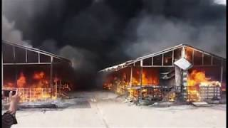 FIRE IN ISLAMABAD H9 SASTY BAZAR MA 23 august (2017)