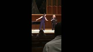 Master Class with Deborah Voigt - Erin Alford sings Nobles seigneurs, salut!