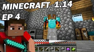 Minecraft Survie 2019: Construction de la mine de diamants ! Ep 4