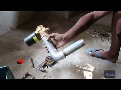How to Install Toilet Flush Valve & Pan in bathroom.