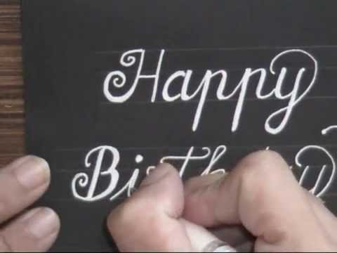 Cursive Fancy Letters How To Write Happy Birthday Card Youtube