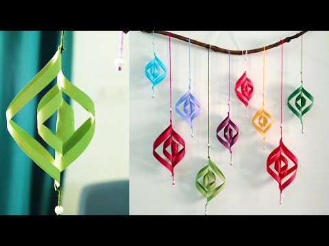 Attractive Paper Wall Hanging | DIY easy paper crafts tutorial - Christmas Wall decoration ideas