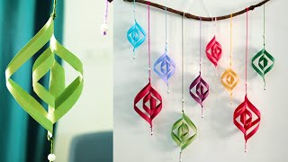 Attractive Paper Wall Hanging   Diy Easy Paper Crafts Tutorial   Christmas Wall Decoration Ideas