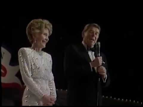 President Reagan and Nancy Reagan Inaugural Balls cuts on January 21, 1985