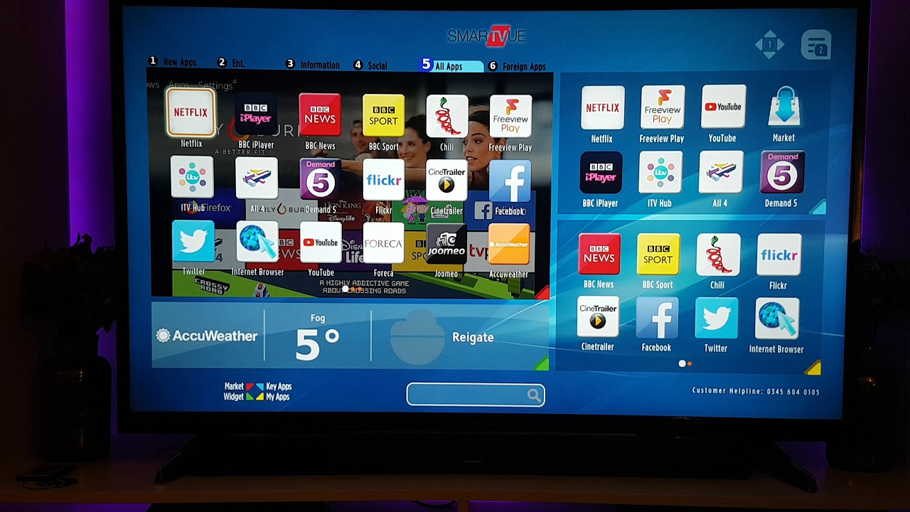 app timvision su smart tv hitachi