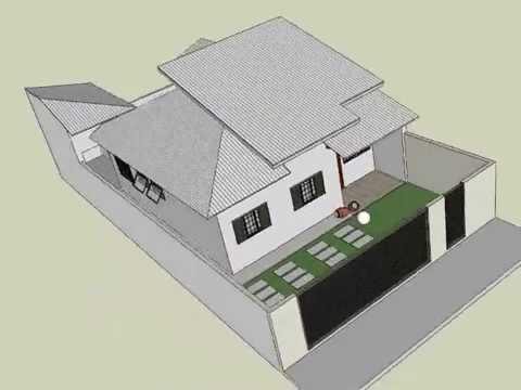 Planta casa 3d by rodrigo parisi youtube for Casa de dos plantas construyehogar