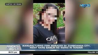 Manufacturing firm manager sa Zamboanga City, patay matapos barilin ng riding-in-tandem