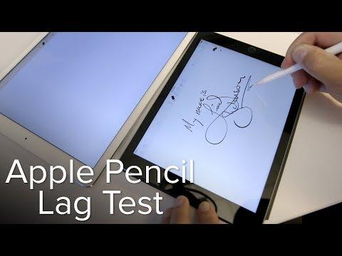 """Apple Pencil lag test on 2018 9.7"""" iPad versus iPad Pro"""