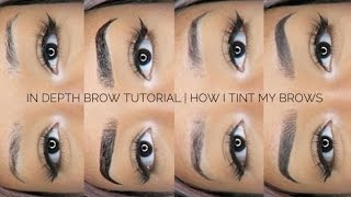 In Depth Brow Tutorial | How I Tint My Brows Ft. Candy Brow Bar