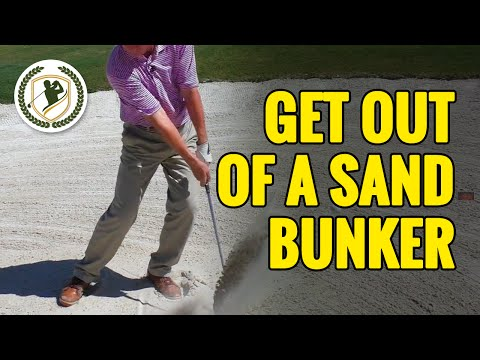 HOW TO GET OUT OF A SAND BUNKER IN GOLF – SIMPLE TECHNIQUES!