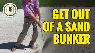 HOW TO GET OUT OF A SAND BUNKER IN GOLF - SIMPLE TECHNIQUES!