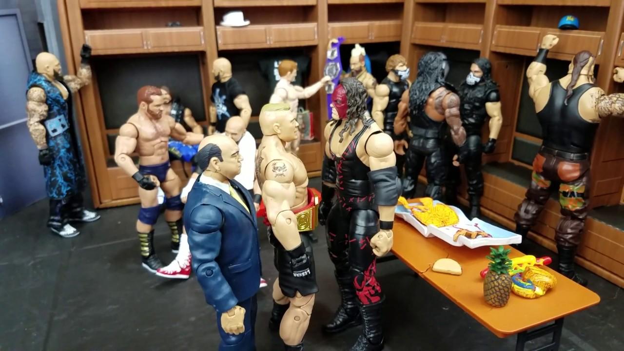 NEW WWE LOCKER ROOM BACK STAGE ARENA