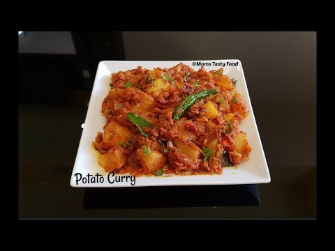 Potato Masala Recipe-Spicy Potato Curry For Rice, Chapathi, Roti-Easy South Indian Recipes - Curries
