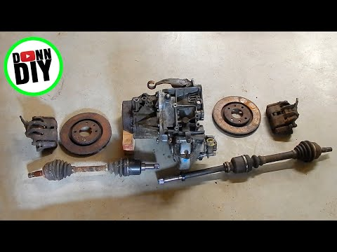 Tracked Amphibious Vehicle Build PART 2 - Scrapping A Car For Transmission -