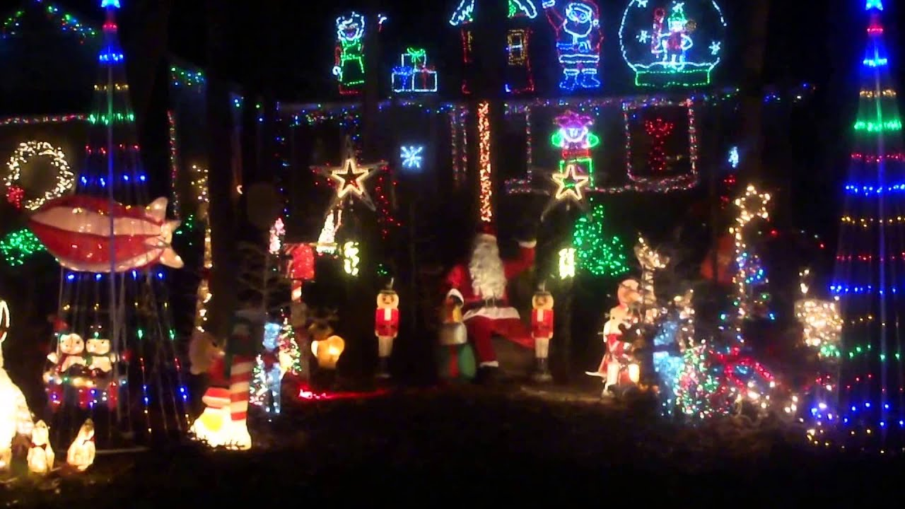 The Heindel House in Raleigh NC Christmas 2015 - YouTube