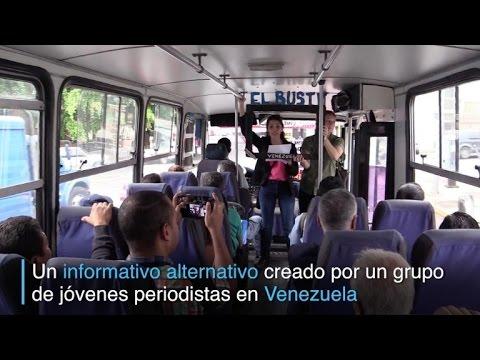 """""""El Bus TV"""", informativo alternativo en autobuses de Venezuela"""