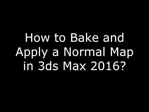 How to Bake and Apply a Normal Map in 3ds Max 2016?