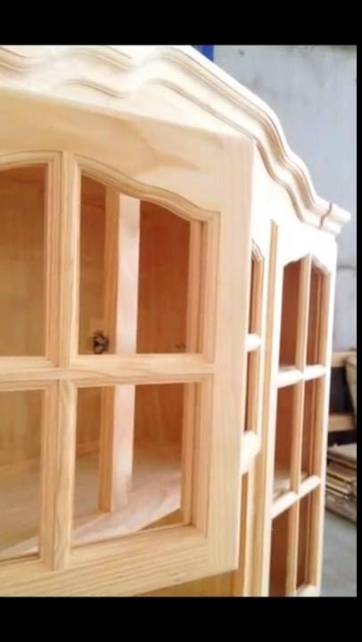 Alacena provenzal en madera de pino youtube - Alacena de madera ...