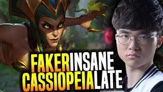 Faker Shows What His Cassiopeia Can do! - SKT T1 Faker SoloQ Playing Cassiopeia Midlane!   SKT T1 thumbnail