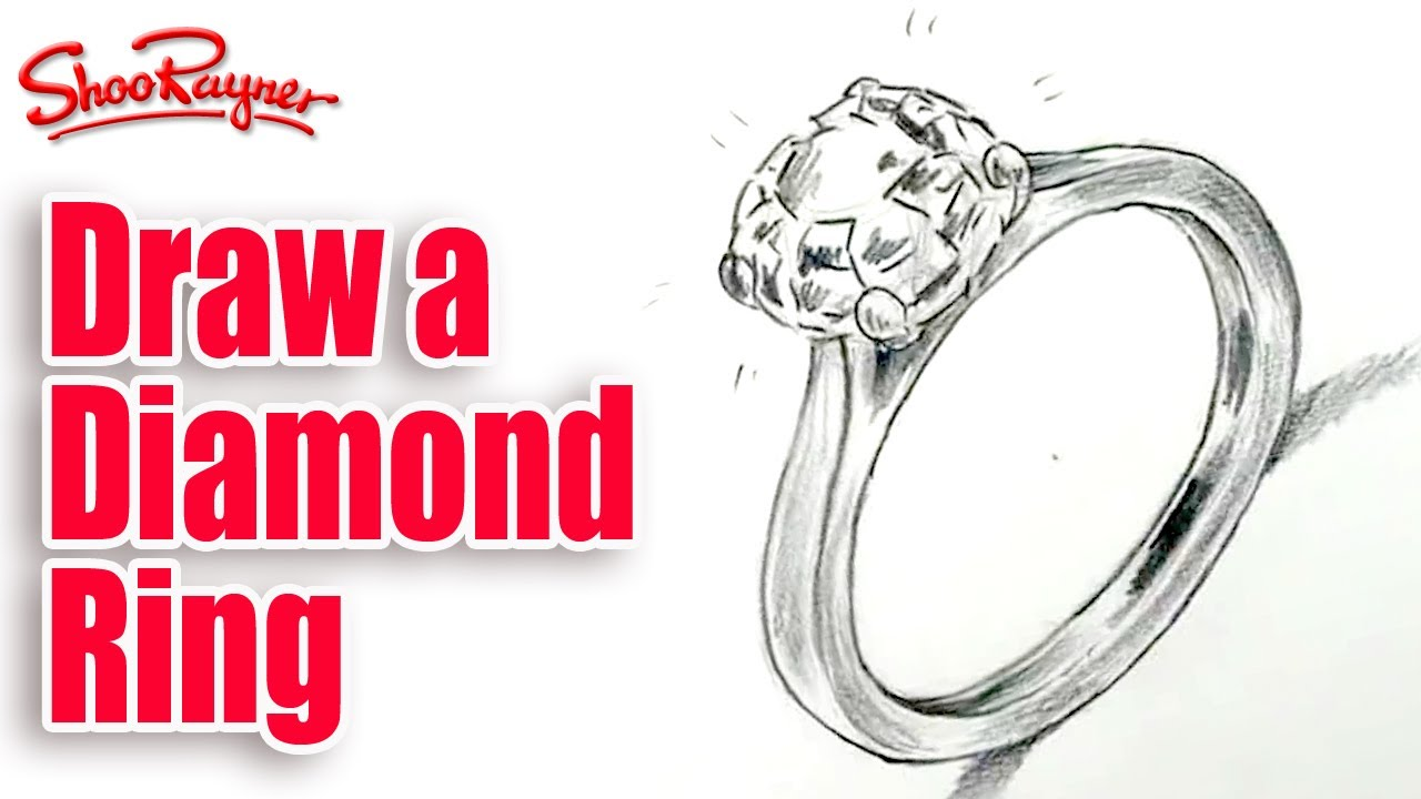 How to draw a diamond ring Spoken Tutorial YouTube