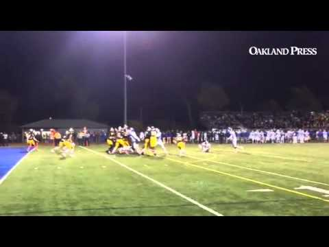Ryan Harris of Walled Lake Central blocks a 23-yard FG attempt by Western @MIPrepZone