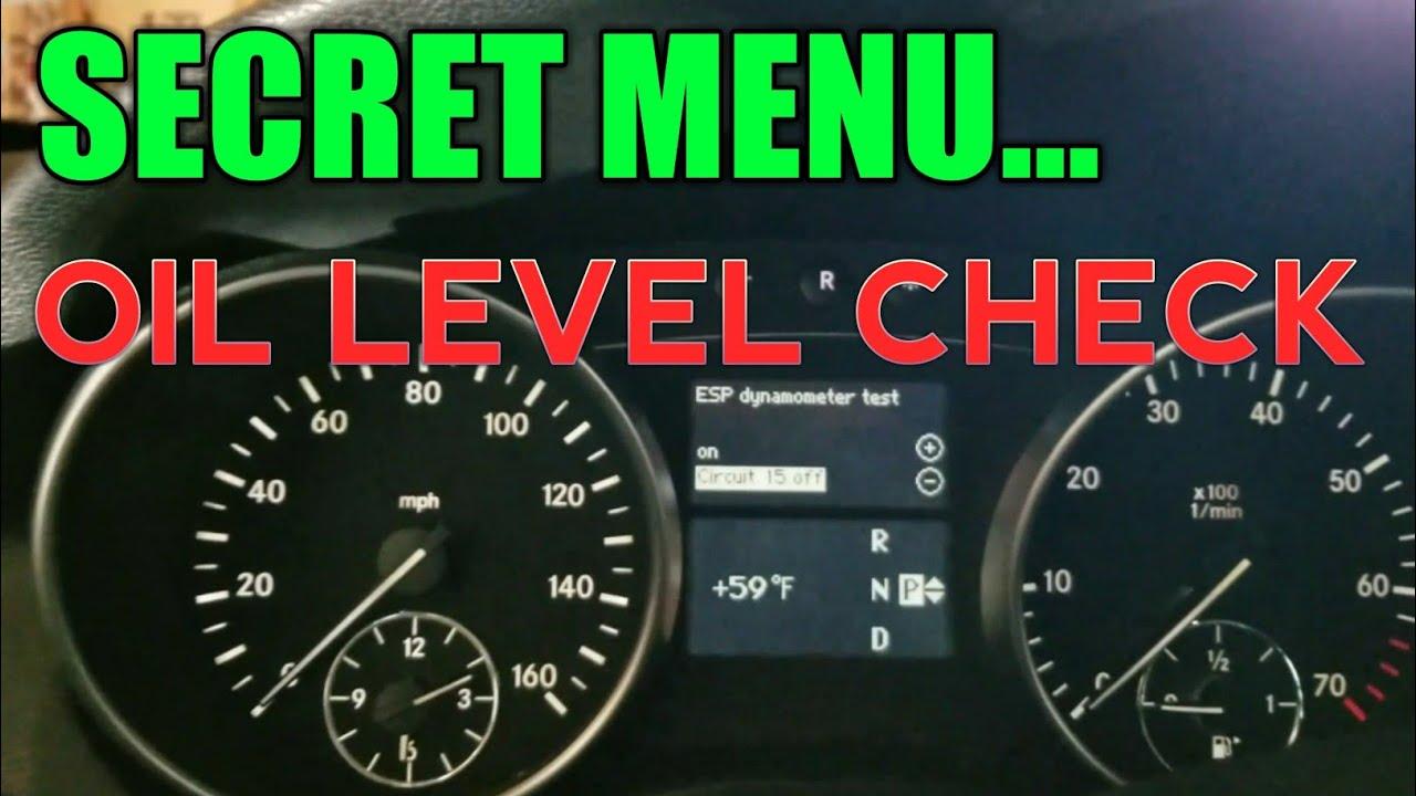 Mercedes OIL Level Check Via Secret Menu | iRepair Autos