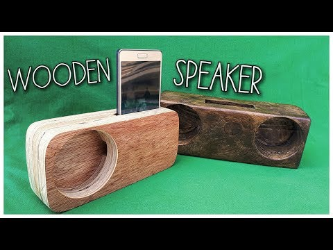 DIY WOODEN PHONE SPEAKER (English Subtitles)