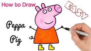 How to Draw Peppa Pig | Cartoon Drawings for kids