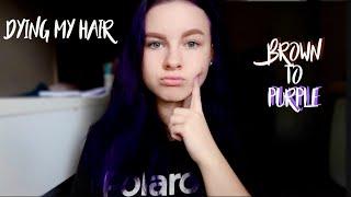 DYING MY BROWN HAIR PURPLE