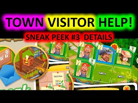 HAY DAY - Sneak Peek #3: Truck Order and Town Visitor Help! DETAILS!