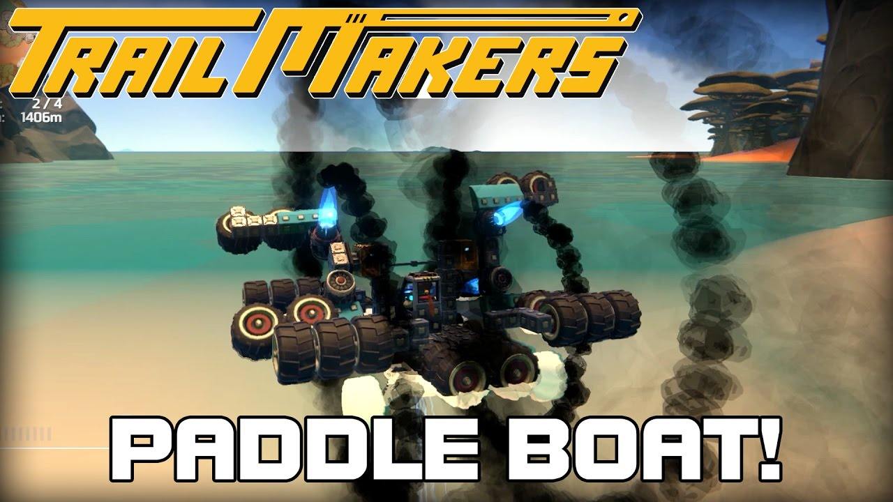 Paddle Boat Made of Tires?!? (Trailmakers Alpha Demo Gameplay)
