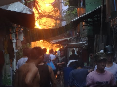 Fire breaks out in Malate slum of Manila (18th of August, 2017)