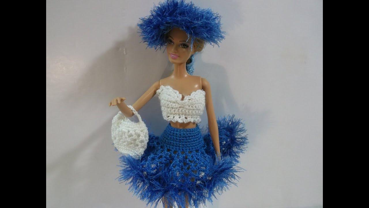 Юбка вязаная крючком для куклы